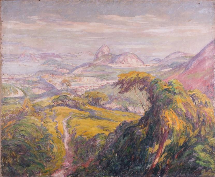 Trecho do Rio de Janeiro, 1927 Lucílio de Albuquerque, Óleo sobre tela