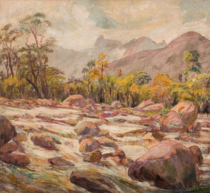 Rio Soberbo – Teresópolis, 1927, Lucílio de Albuquerque, Óleo sobre tela