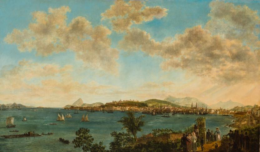 Vista do Rio de Janeiro - Tomada da Ilha das Cobras, Século XIX, Félix-Émile Taunay, Óleo sobre tela