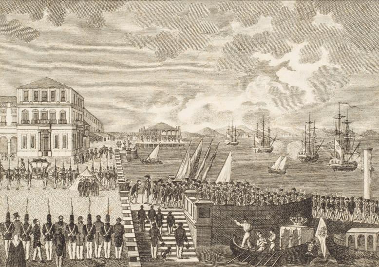Desembarque d´El Rei Dom João VI, Século XIX, Litogravura