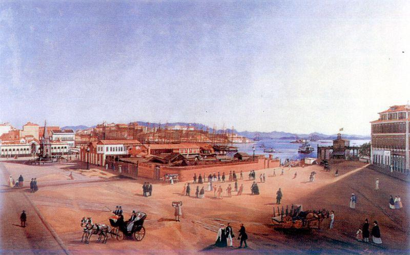 Largo do Paço, 1865  Luigi Stallone, Óleo sobre tela