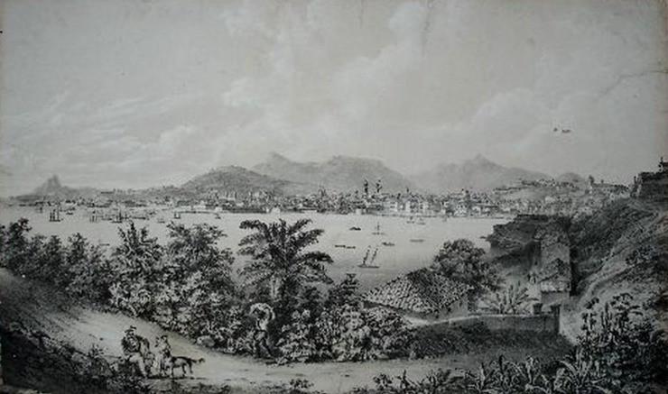 Vista do Rio, sem data, Gravura