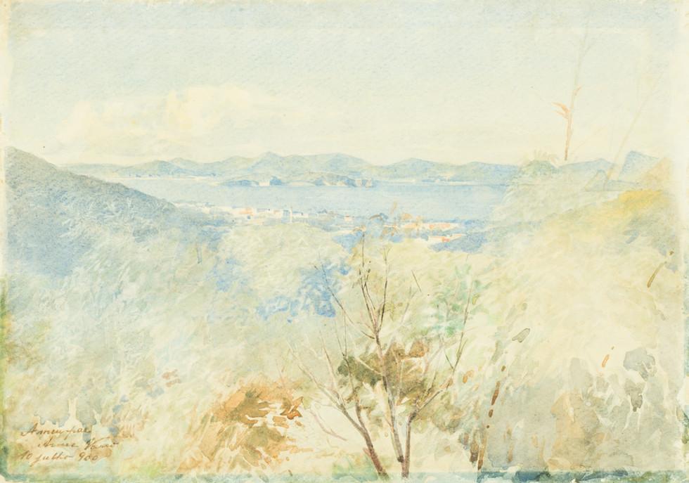 Panorama da Baía de Guanabara, 1900 Anna Vasco, Aquarela