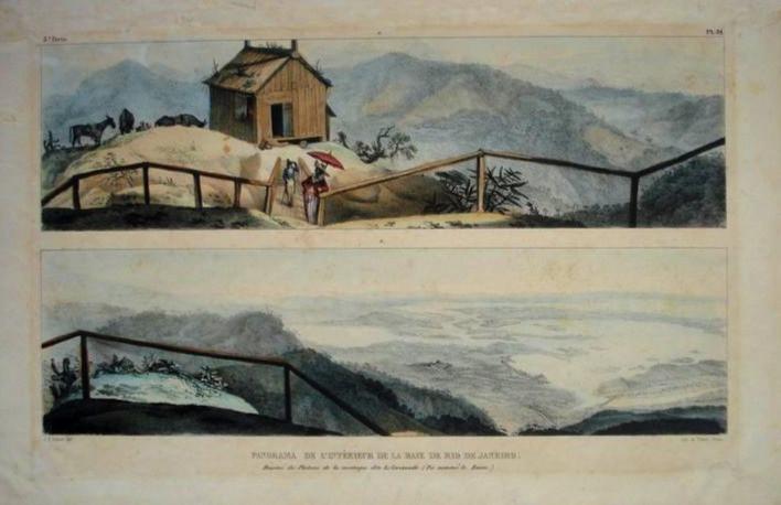 Panorama da Baía do Rio de Janeiro, 1806 Jean-Baptiste Debret, Litogravura