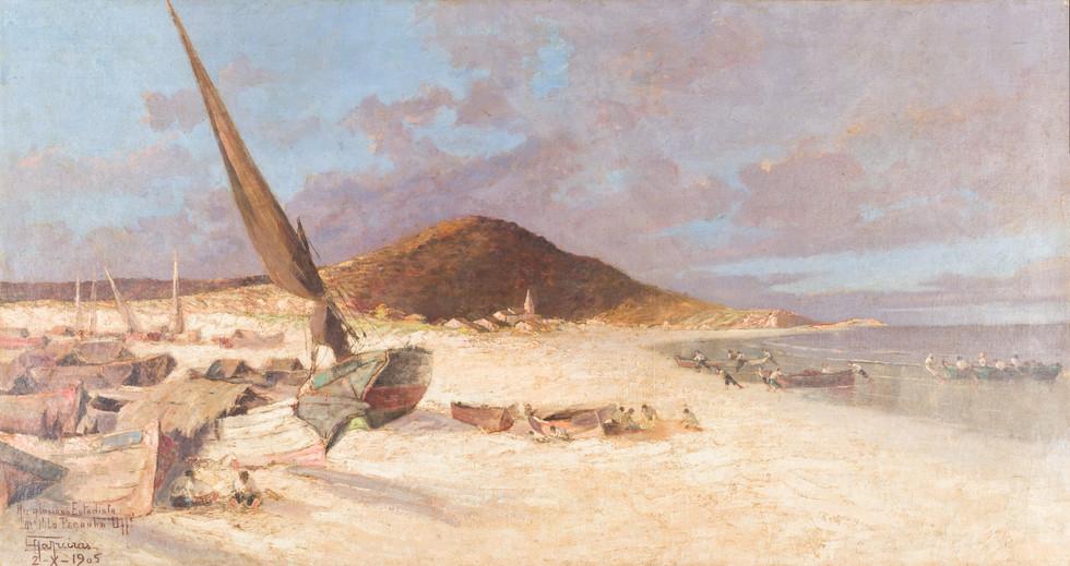 Tormenta, 1905 Antonio Parreiras, Óleo sobre tela