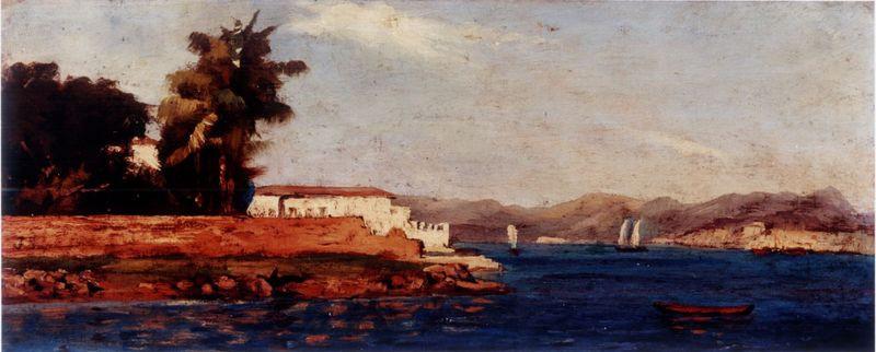 Ponta do Calabouço, Século XIX,  João Baptista da Costa, Óleo sobre madeira