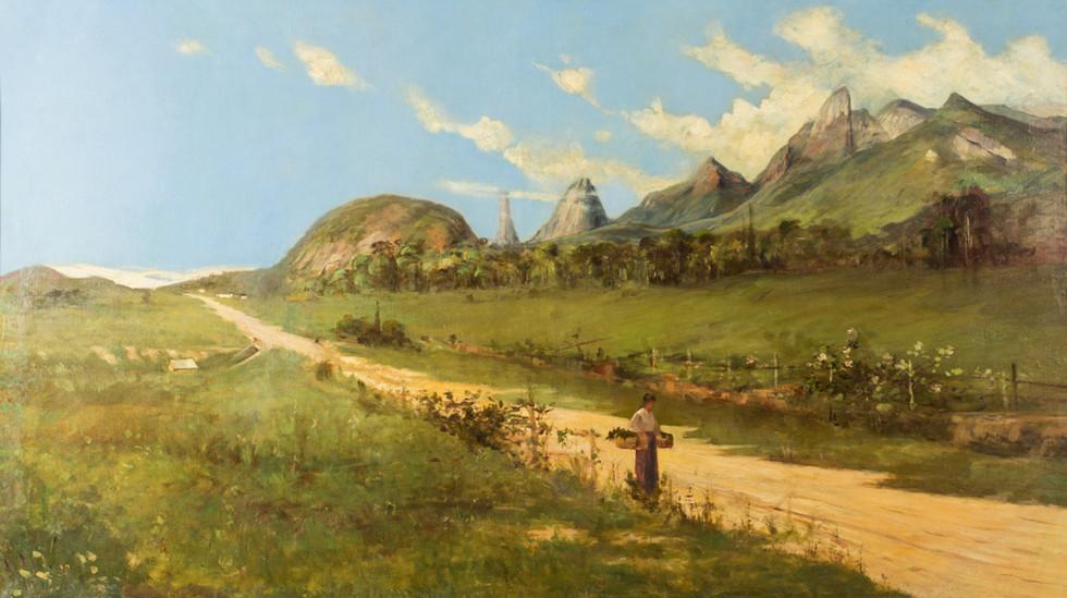 Paisagem de Teresópolis, Século XIX – XX, Autor desconhecido, Óleo sobre tela