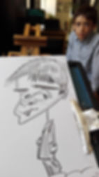 ציור קריקטורה באירוע