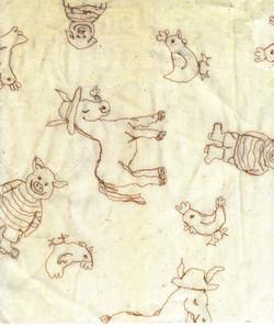 machine sewn farm animals