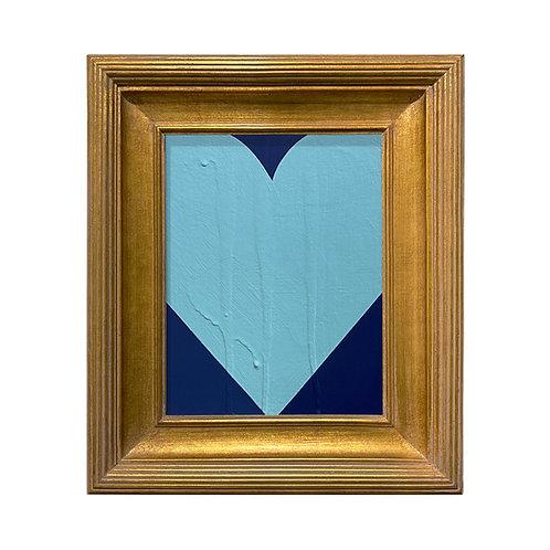 Ron Giusti Mini Heart Navy Light Blue