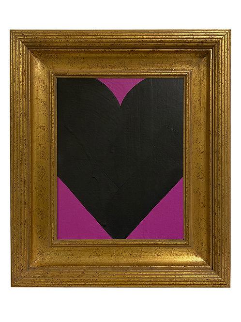 Ron Giusti Mini Heart Violet Black