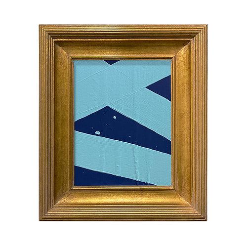 Ron Giusti Mini Abstract Navy Lt Blue