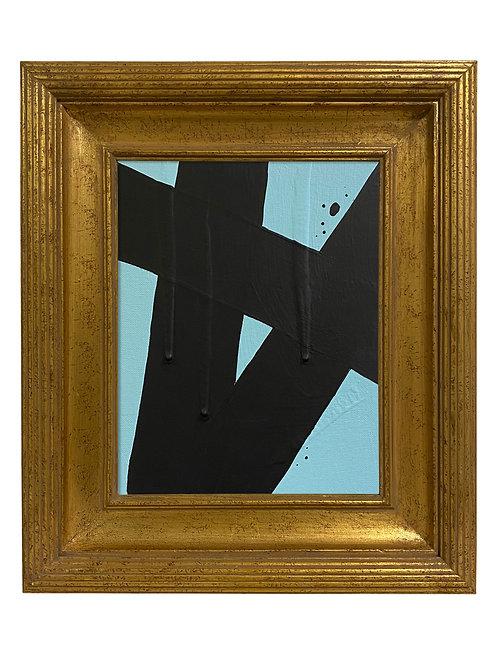 Ron Giusti Mini Abstract Light Blue Black