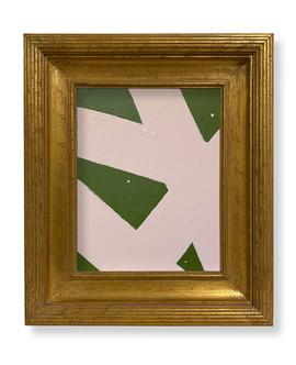 8 x 10 Dk Green Lt Pink SOLD