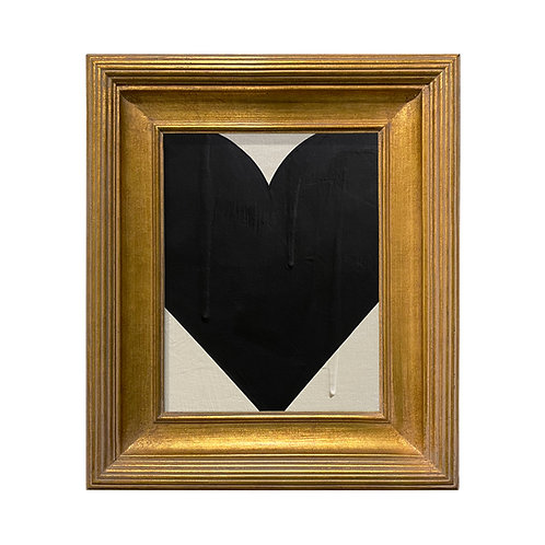 Ron Giusti Mini Heart Cream Black