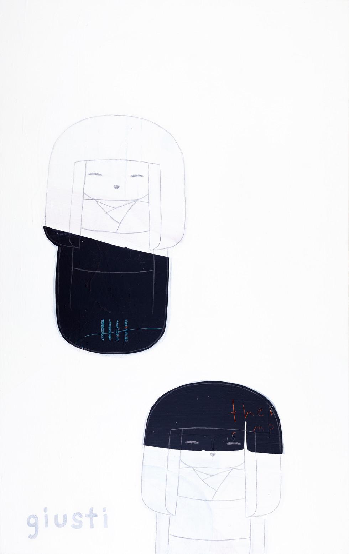 "KOKESHI TWINS 3 30"" x 40"" Available"