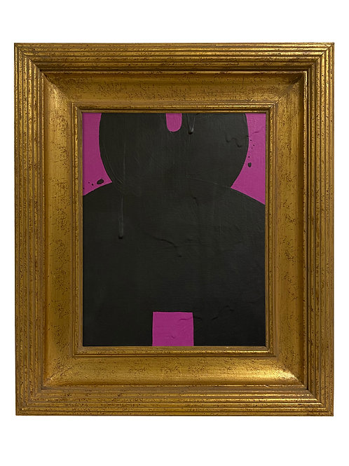 Ron Giusti Mini Kokeshi Doll Head Violet Black