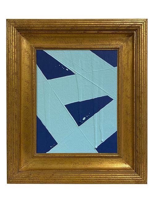 Ron Giusti Mini Abstract Navy Light Blue