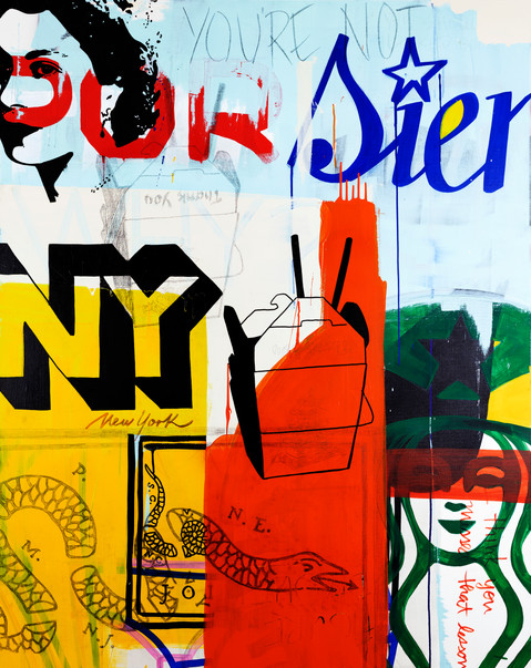 NY TAKE OUT 4ft x 5ft SOLD