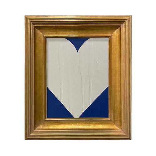 Ron Giusti Mini Heart Navy Cream