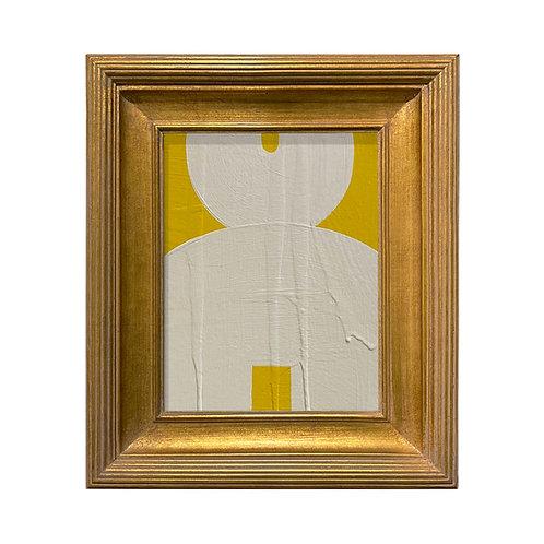 Ron Giusti Mini Kokeshi Doll Head Yellow Cream