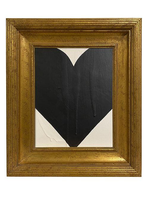Ron Giusti Mini Heart Black Cream 1