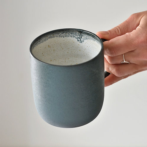 Dark green cup with handle