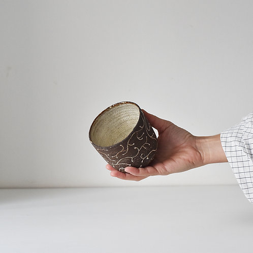 Raw cup, underwater flora