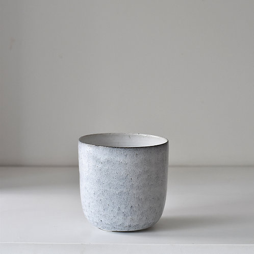 Medium grey blue planter