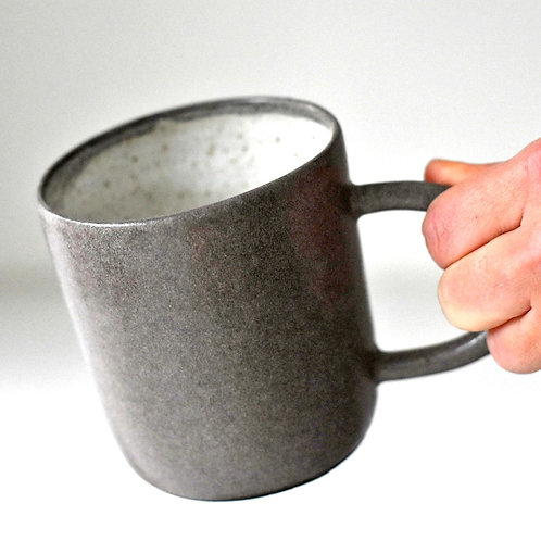 Lila grey cup with handle