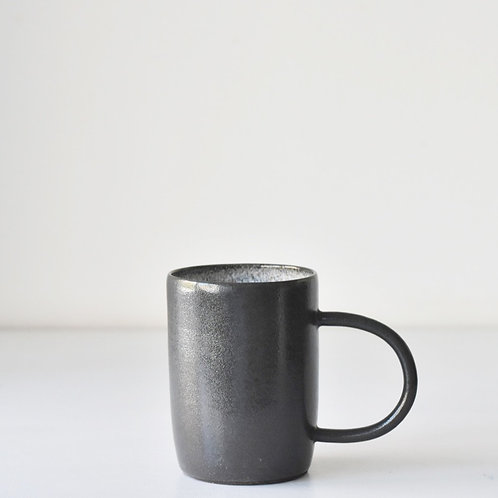 Grey cup with handle