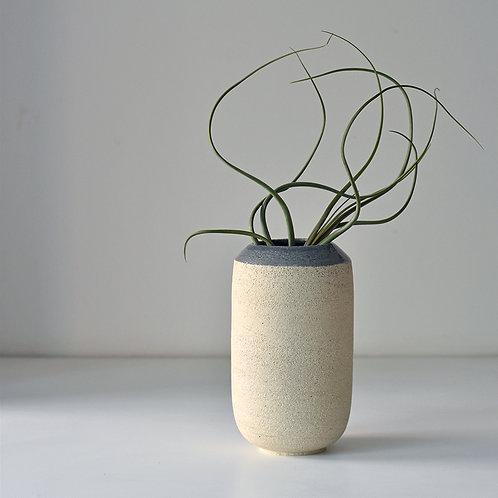 Grey collar vase
