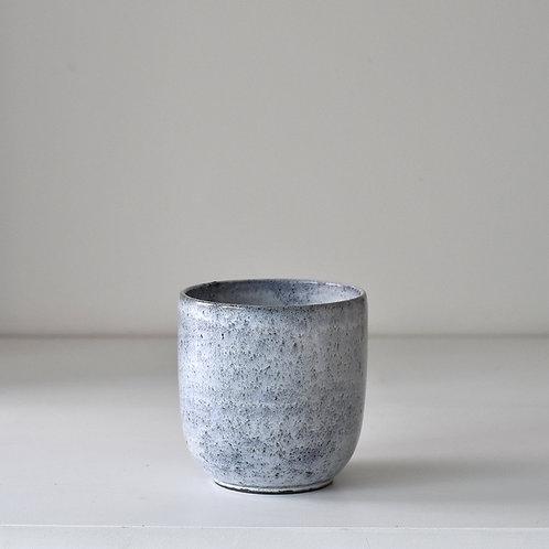 Small grey blue planter