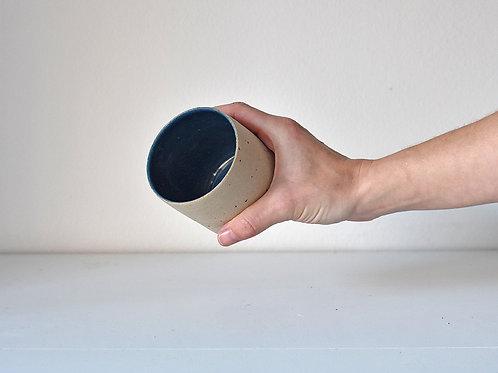 tall blue raw cup