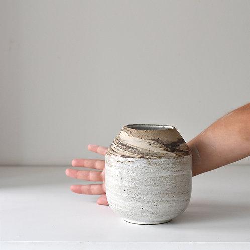 Medium marbled vase