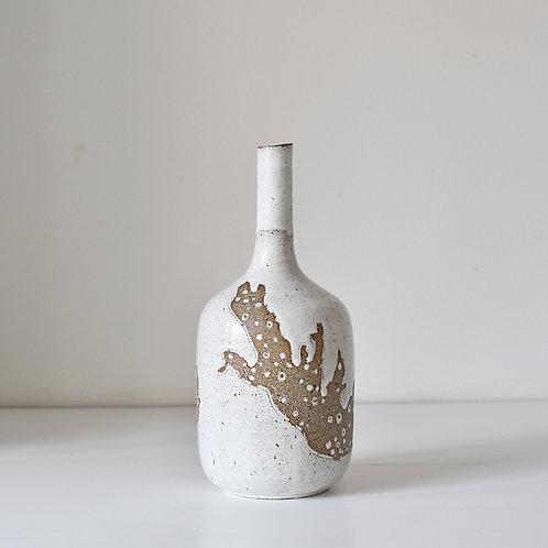 Long neck vase, underwater flora