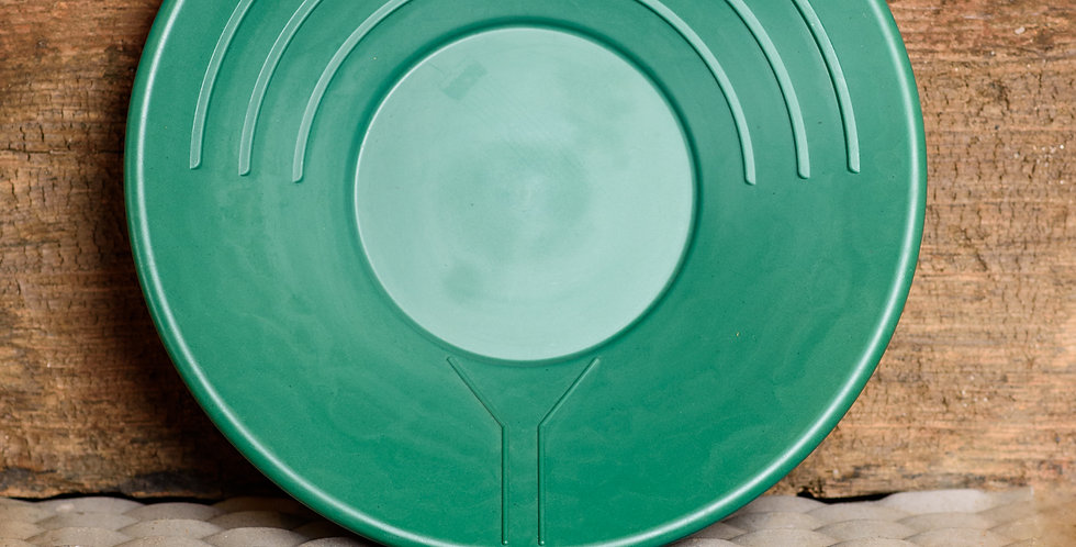 "14"" Green pan with mercury well"