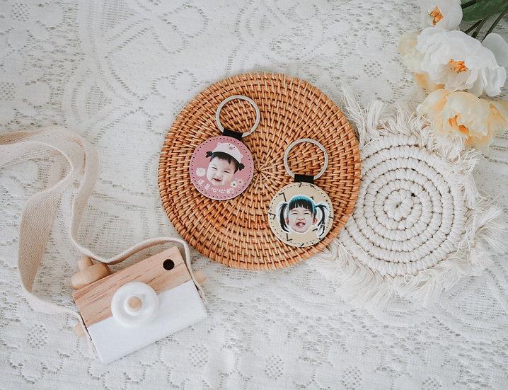 客製禮物 客製皮革鑰匙圈
