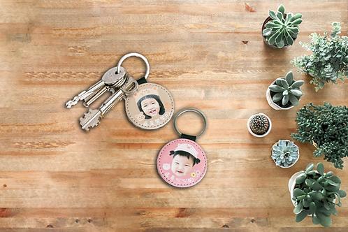 客製禮物|客製皮革鑰匙圈