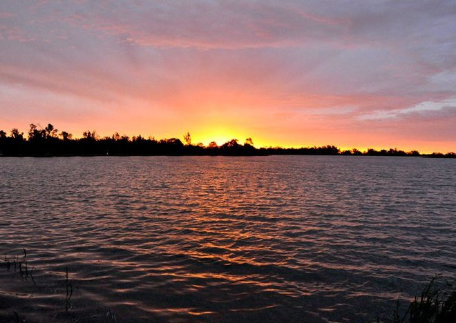 Gum Bend Lake Sunset