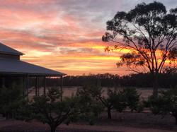 Yarrabandai Creek Homestead at sunrise