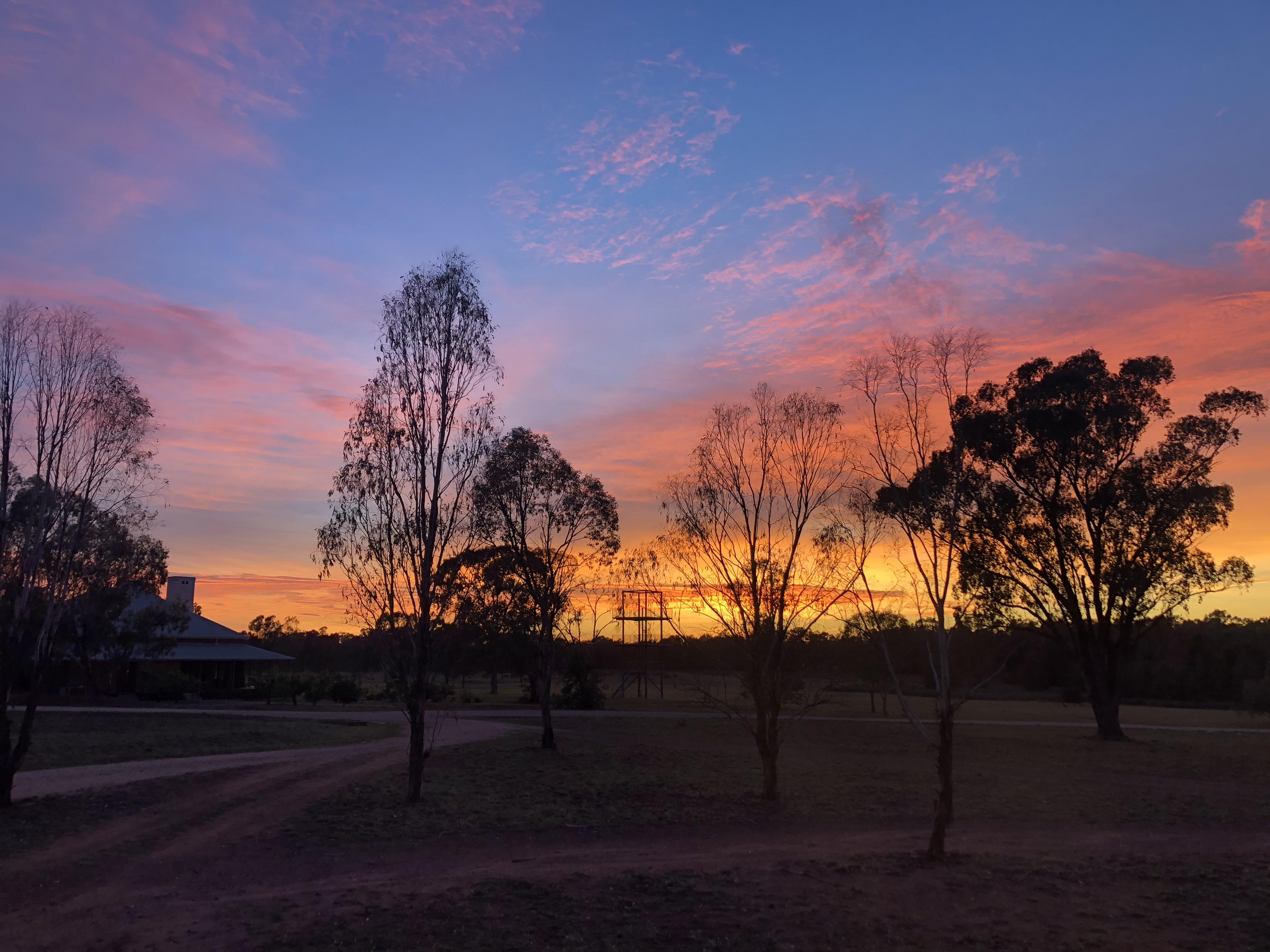 Sunset over Yarrabandai Creek