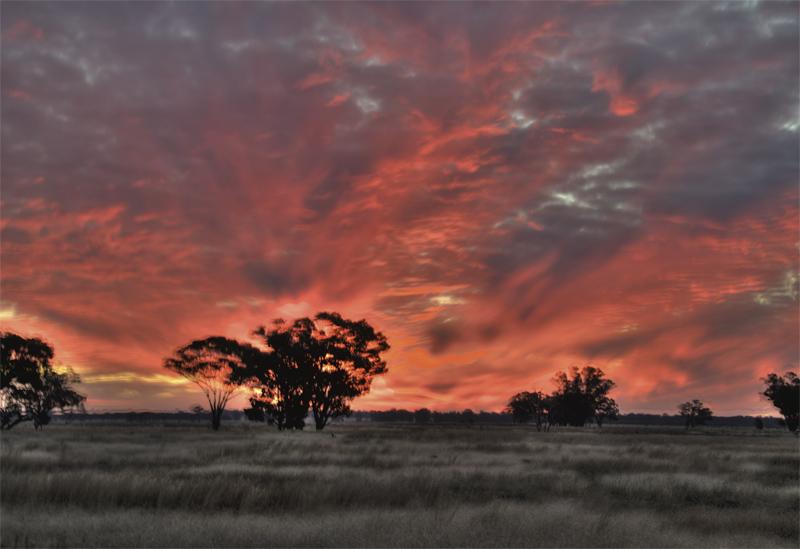 Sunset over Tullamore