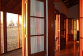 Oxley Cabin Doors at sunset.JPG