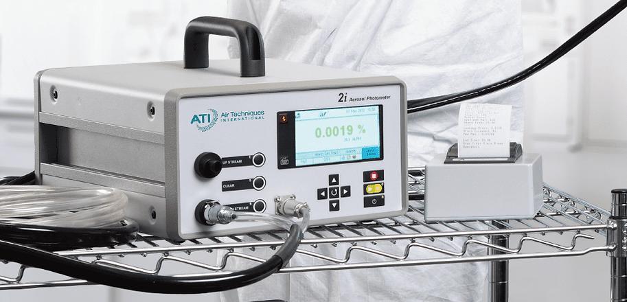 Aerosol photometer for HEPA filter DOP testing