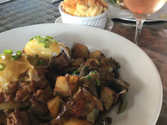 Cochon Eggs benedict, Lobster Mac n Cheese, and Rose