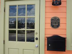 Front Door & Historic Plaque