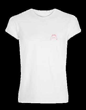 Amigo T-shirt Vrouw - Oranje hart