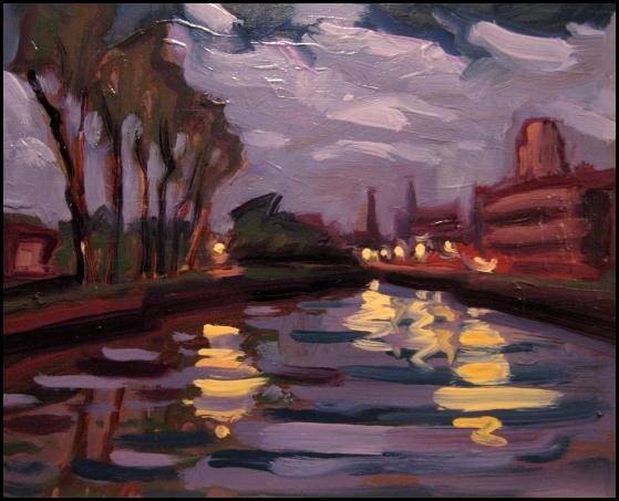 lachine canal night