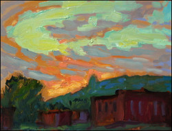 evening falls on verdun